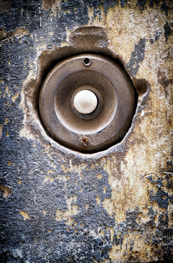 Кнопка колокола стоковое изображение