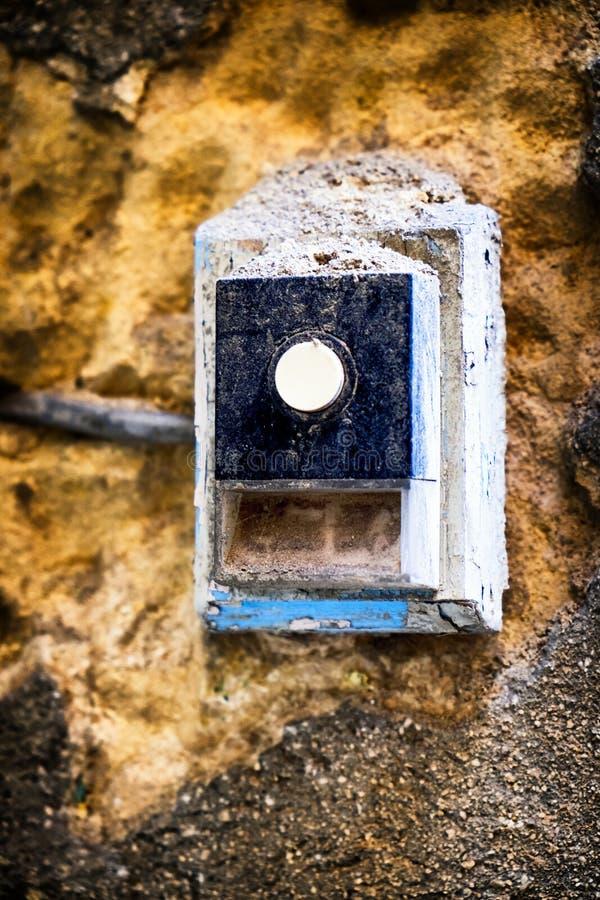 Кнопка колокола стоковое изображение rf