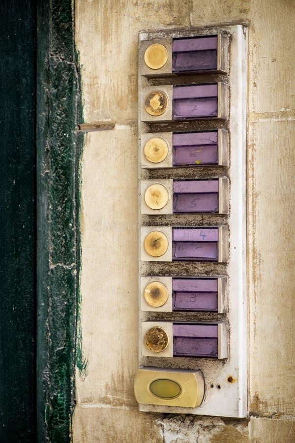 Кнопка колокола стоковые фотографии rf