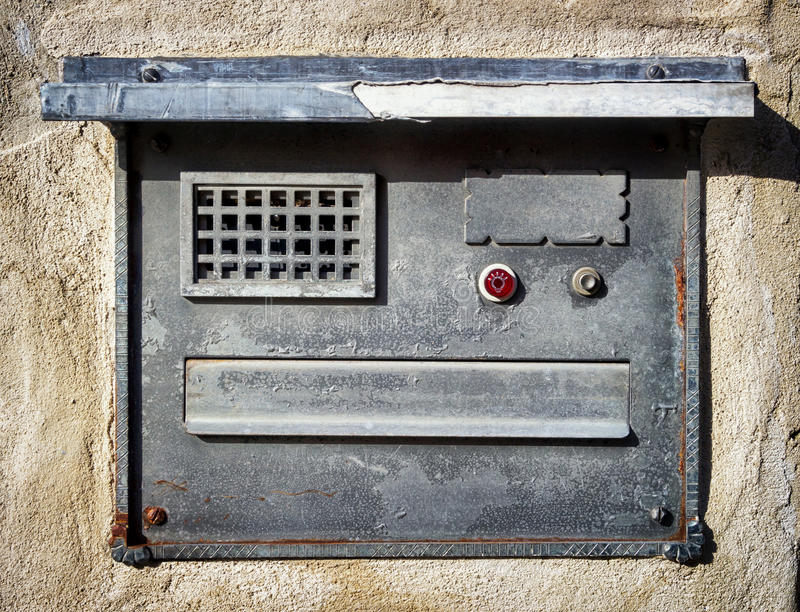 Кнопка колокола стоковая фотография