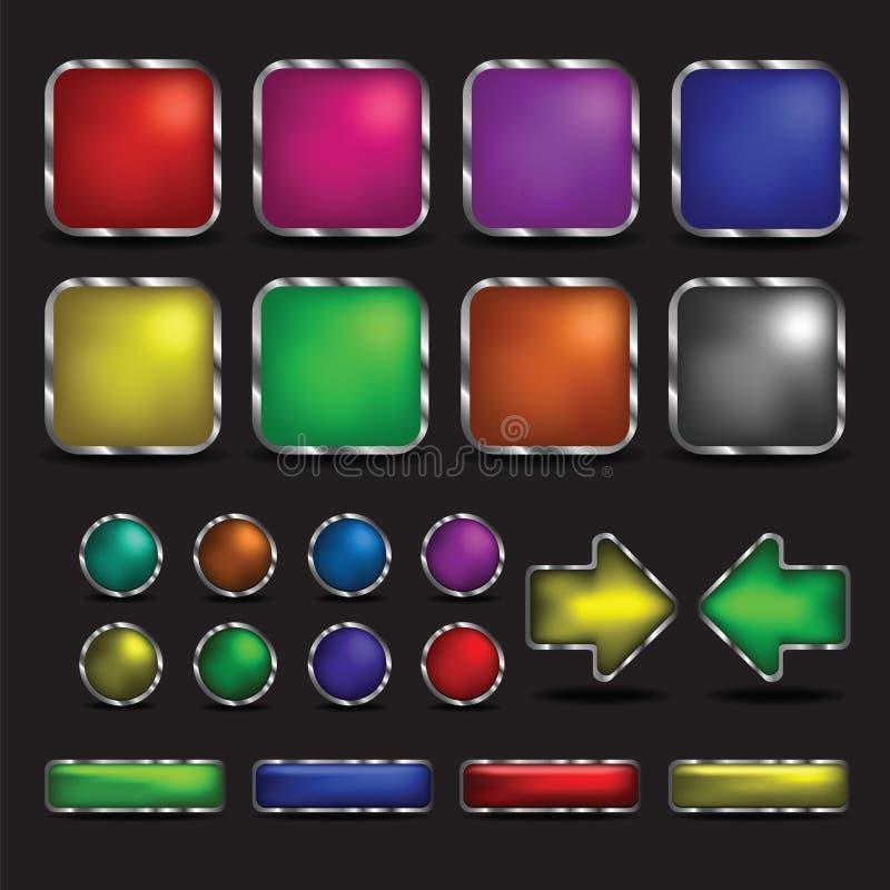 Кнопка красочная на предпосылке бесплатная иллюстрация