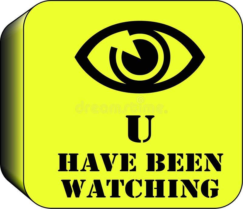 Кнопка кулачка Cctv предупреждающая стоковые изображения rf