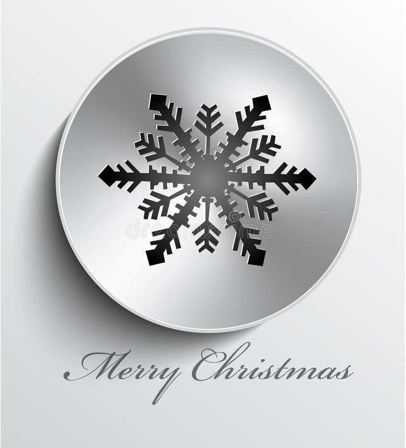 Кнопка металла рождества иллюстрация вектора