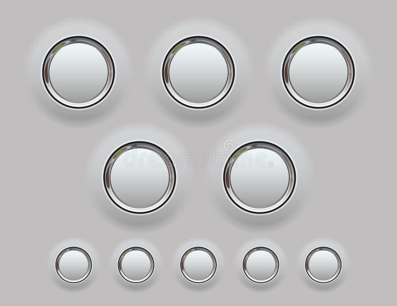 Кнопка металла сеты. Иллюстрация вектора бесплатная иллюстрация