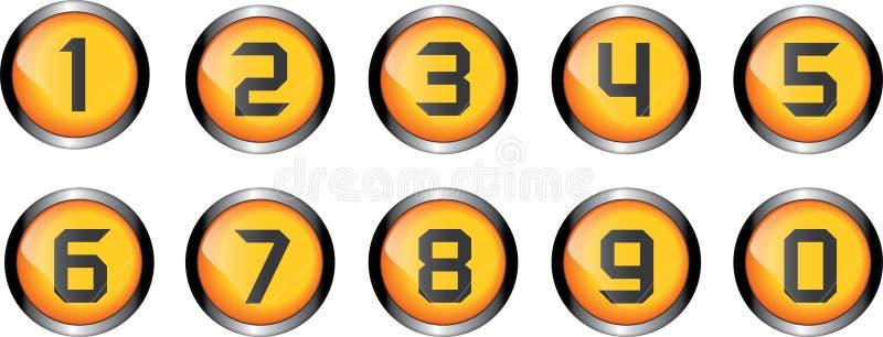 Кнопка номера иллюстрация штока