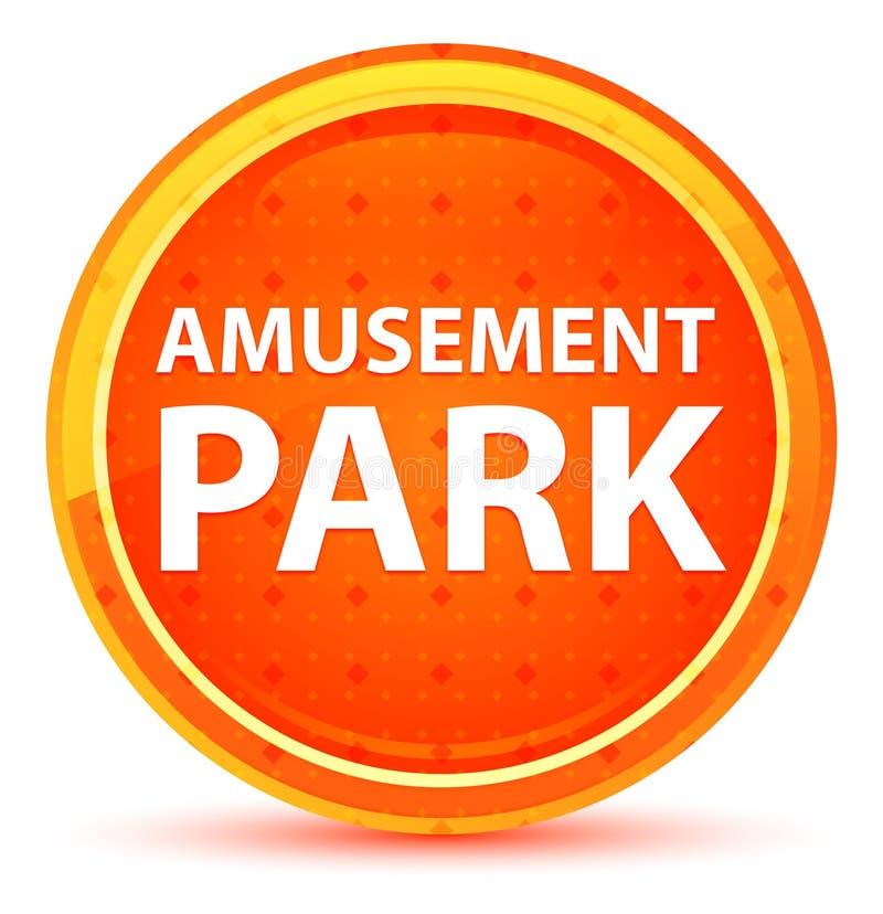 Кнопка парка атракционов естественная оранжевая круглая иллюстрация вектора