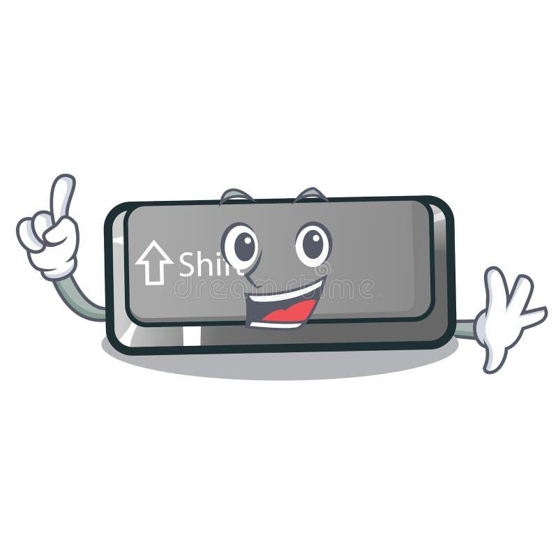 Кнопка переноса пальца установленная в игру мультфильма иллюстрация штока