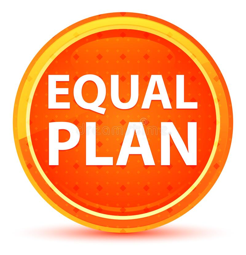 Кнопка плана равного естественная оранжевая круглая бесплатная иллюстрация