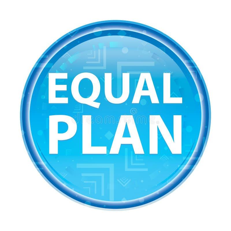 Кнопка плана равного флористическая голубая круглая иллюстрация штока