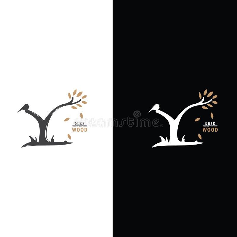 Кнопка птицы на ветви древесины дерева стоковое изображение rf