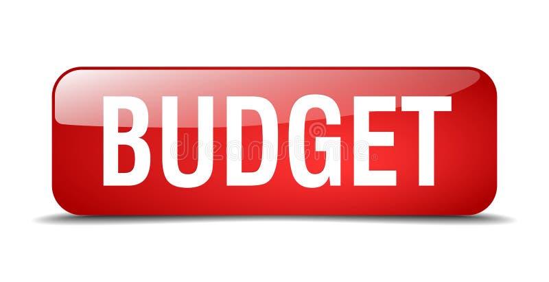 кнопка сети бюджета изолированная красной площадью иллюстрация вектора