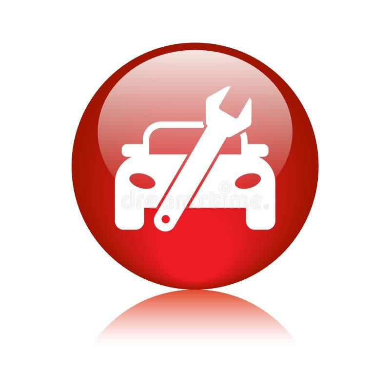 Кнопка сети значка обслуживания автомобиля иллюстрация вектора