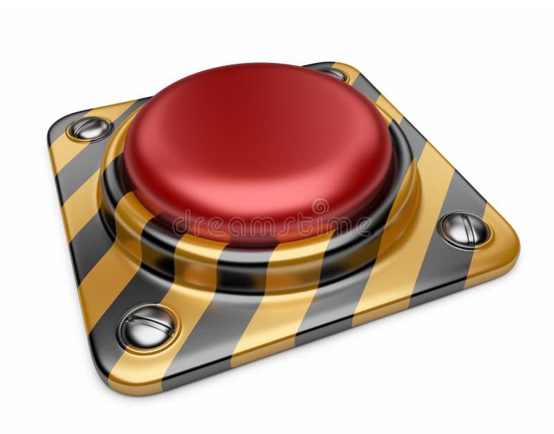 Кнопка сигнала тревоги красная. изолированная икона 3D иллюстрация вектора