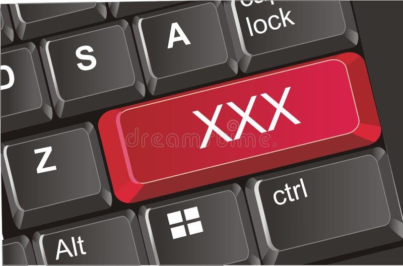Кнопка с xxx письмами иллюстрация штока
