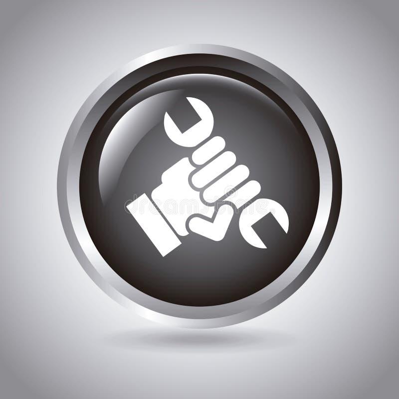 Кнопка технического обслуживания иллюстрация вектора