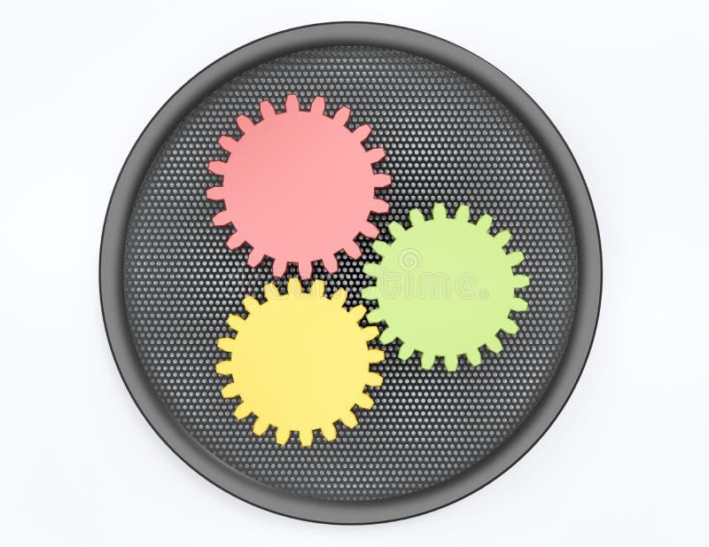 Кнопка установок иллюстрация штока