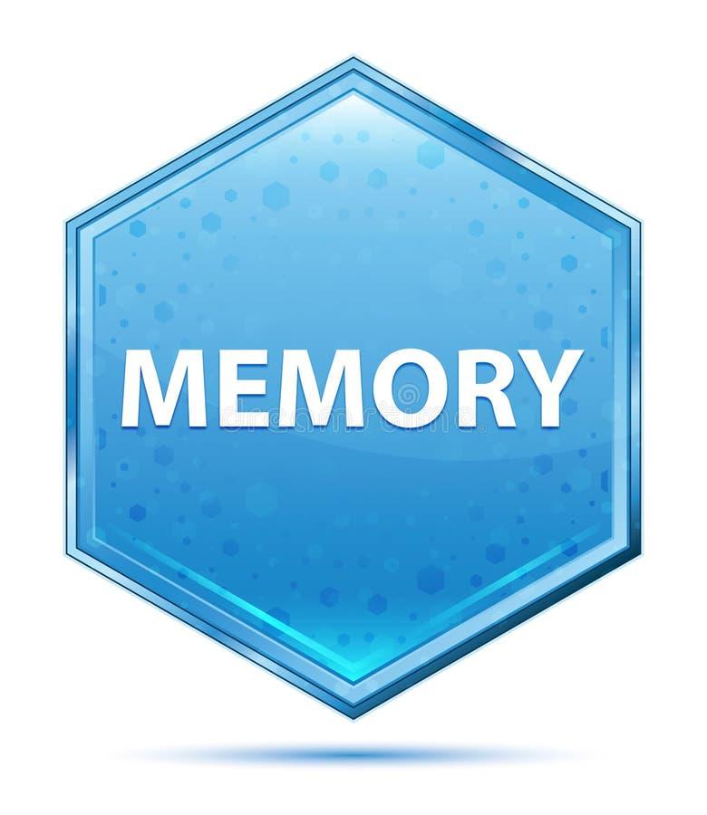 Кнопка шестиугольника памяти кристаллическая голубая бесплатная иллюстрация