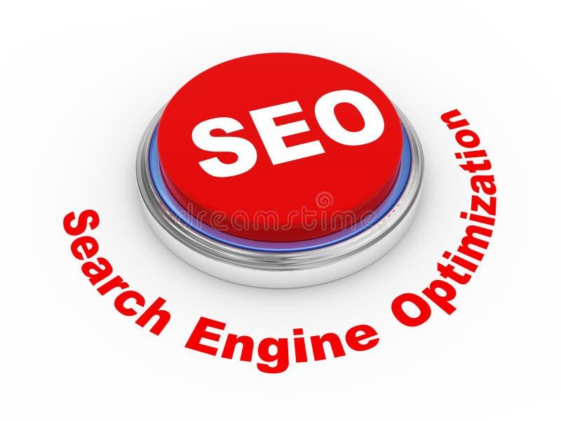 кнопка 3d Seo иллюстрация вектора