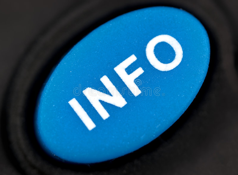 кнопка info стоковое изображение rf