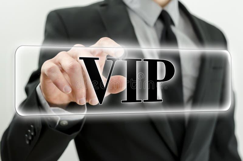 Кнопка VIP стоковое фото