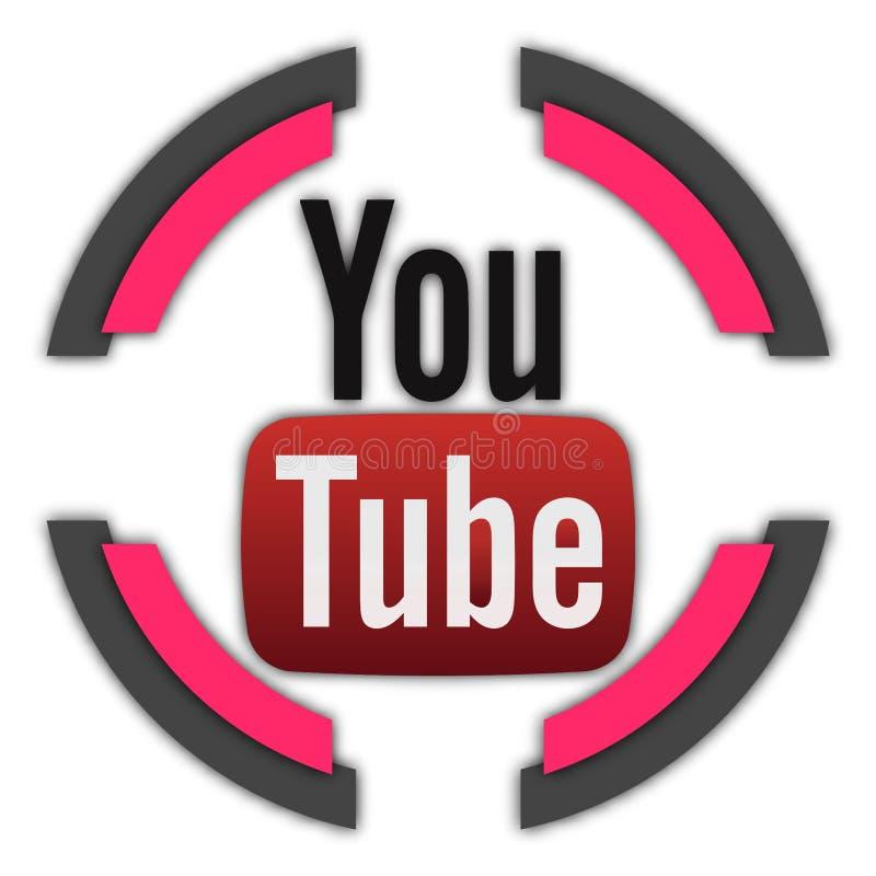 Кнопка YouTube иллюстрация вектора