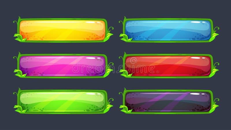 Кнопки вектора шаржа красочные бесплатная иллюстрация