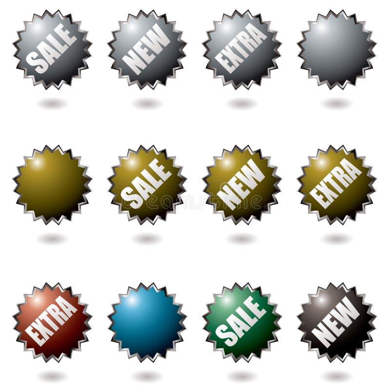 кнопки взрывают иллюстрация вектора