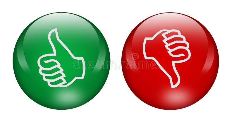 кнопки вниз thumbs вверх бесплатная иллюстрация
