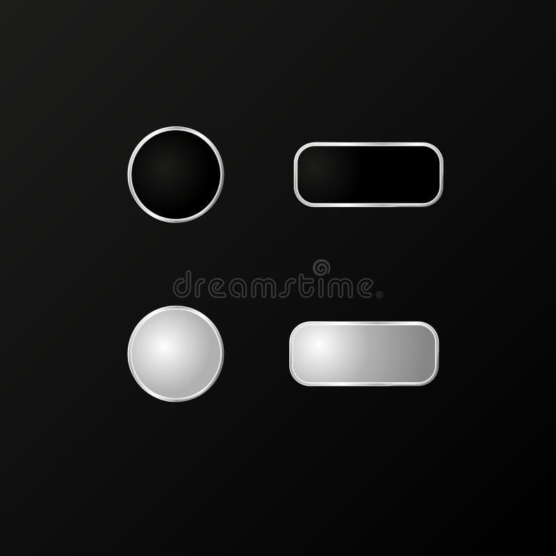 Кнопки для телефона Реалистическая модель вектор 10 eps иллюстрация вектора