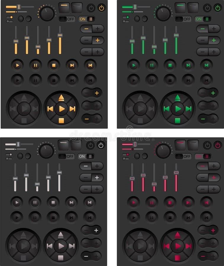 кнопки закрепляя сеть вектора путя иллюстрации иллюстрация штока