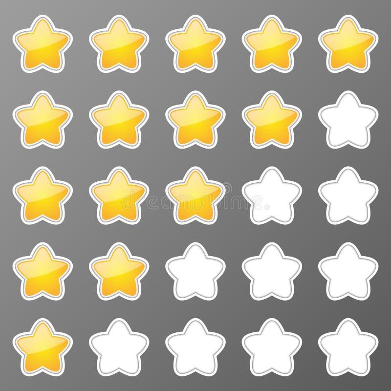 Кнопки звезд иллюстрация штока