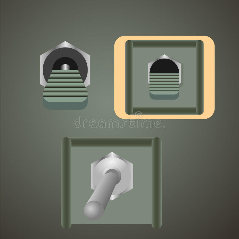 Кнопки - иллюстрация вектора стоковое изображение