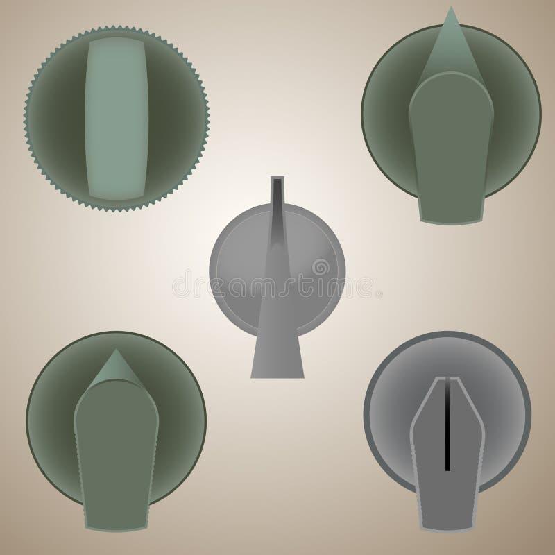 Кнопки - иллюстрация вектора стоковое фото
