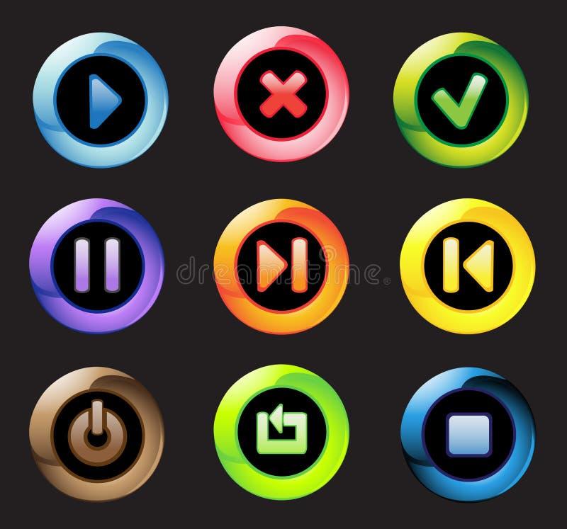 кнопки контролируют загорано иллюстрация штока