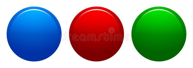 Кнопки красочной сети иллюстрации вектора круглые иллюстрация штока