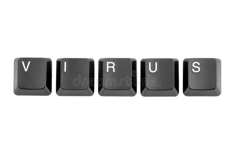 Кнопки клавиатуры с вирусом слова стоковое фото