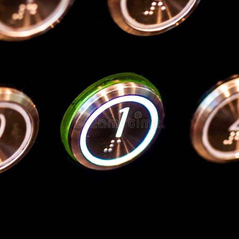Кнопки лифта стоковая фотография rf