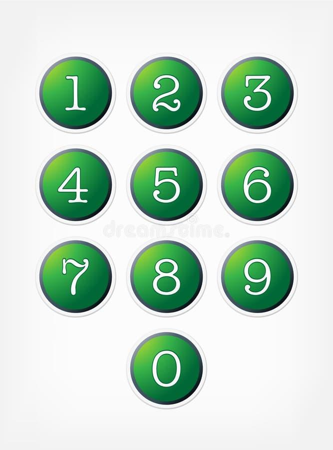 кнопки нумеруют установленный вектор иллюстрация штока