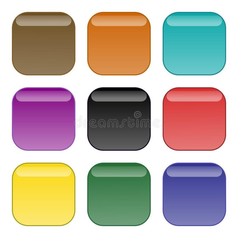 кнопки окаймляют округленный квадрат бесплатная иллюстрация