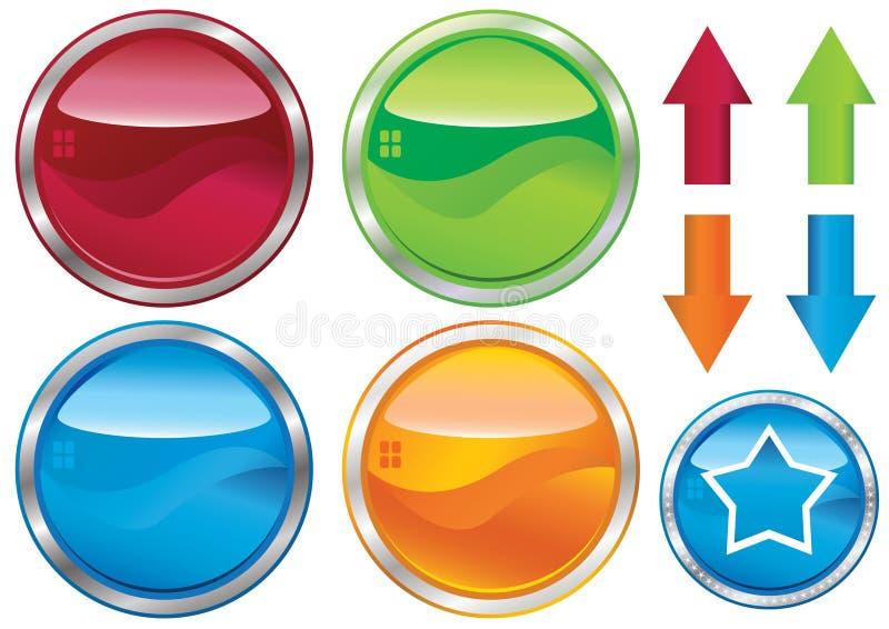 кнопки опорожняют сеть ярлыка eps иллюстрация вектора