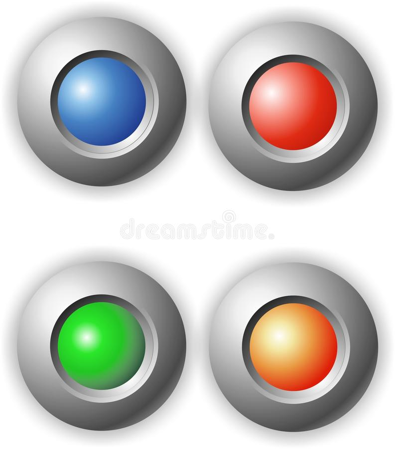 кнопки очищают цветастый круг стоковая фотография rf