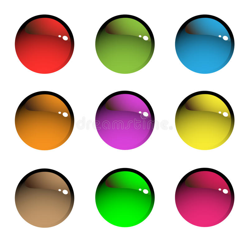 кнопки покрасили веселым бесплатная иллюстрация
