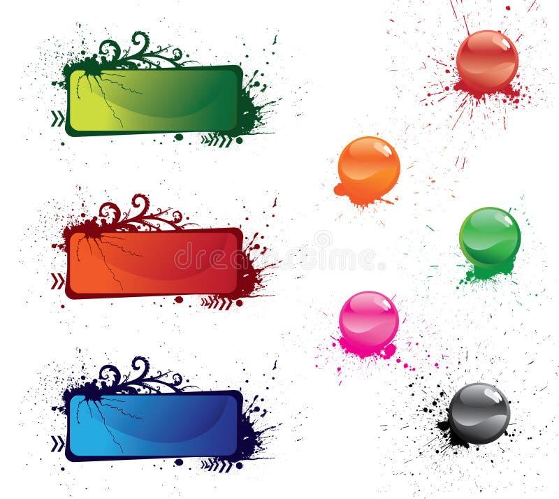 кнопки покрасили multi иллюстрация вектора