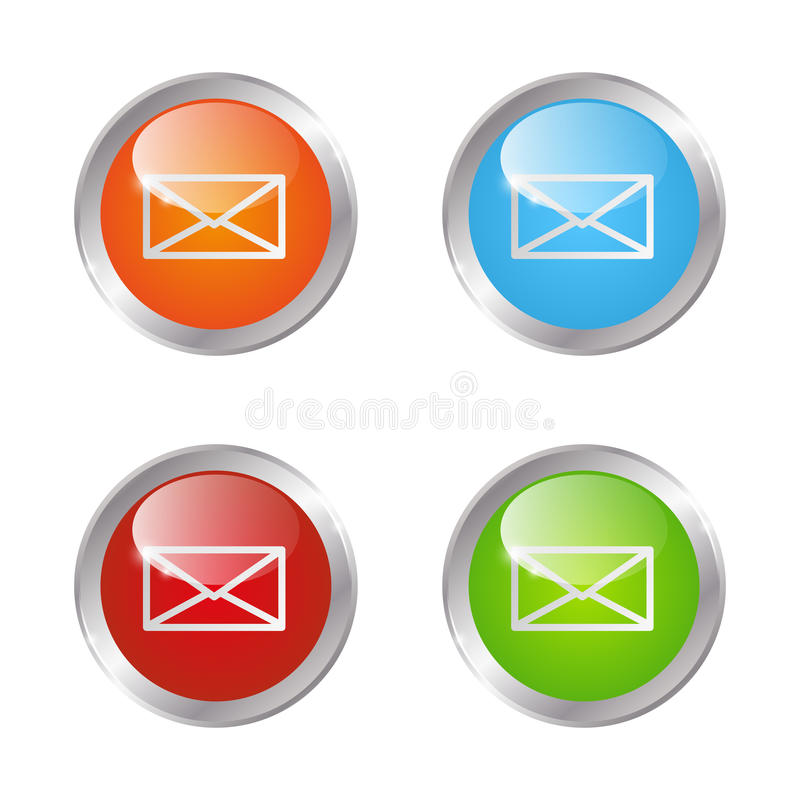 Кнопки почты иллюстрация штока
