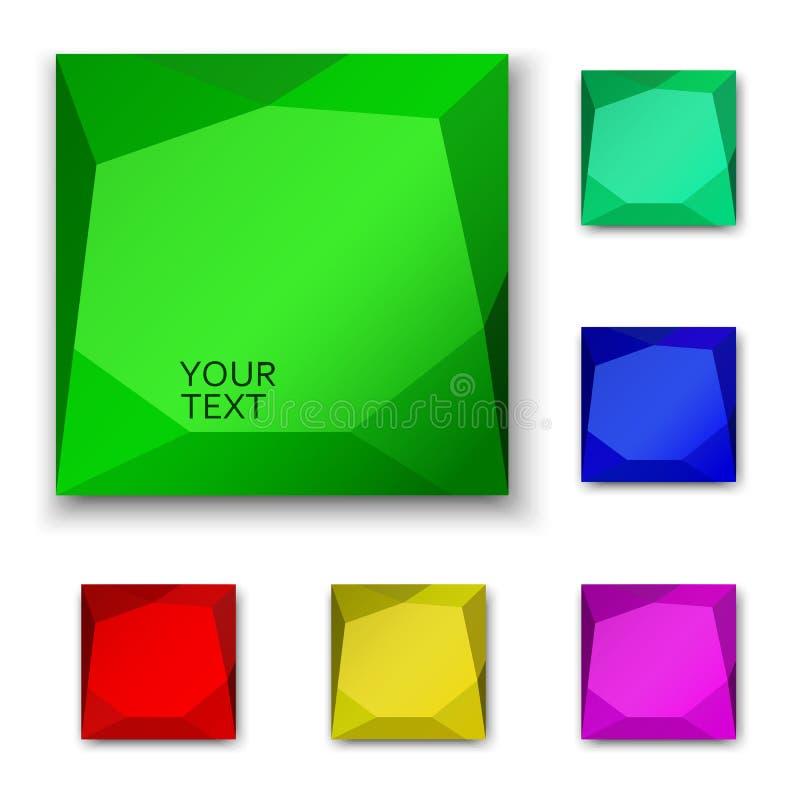 кнопки предпосылок 3d конструируют иллюстрацию над белизной сети стоковые изображения rf