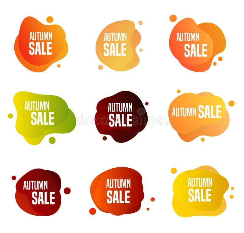 Кнопки продаж осени иллюстрация вектора