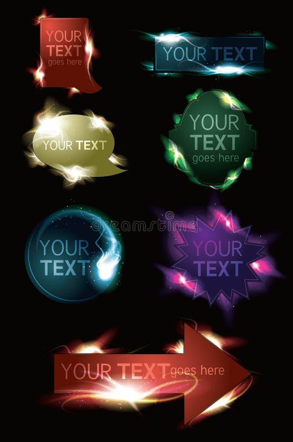 кнопки производят эффект накаляя светлая сверкная сеть бесплатная иллюстрация