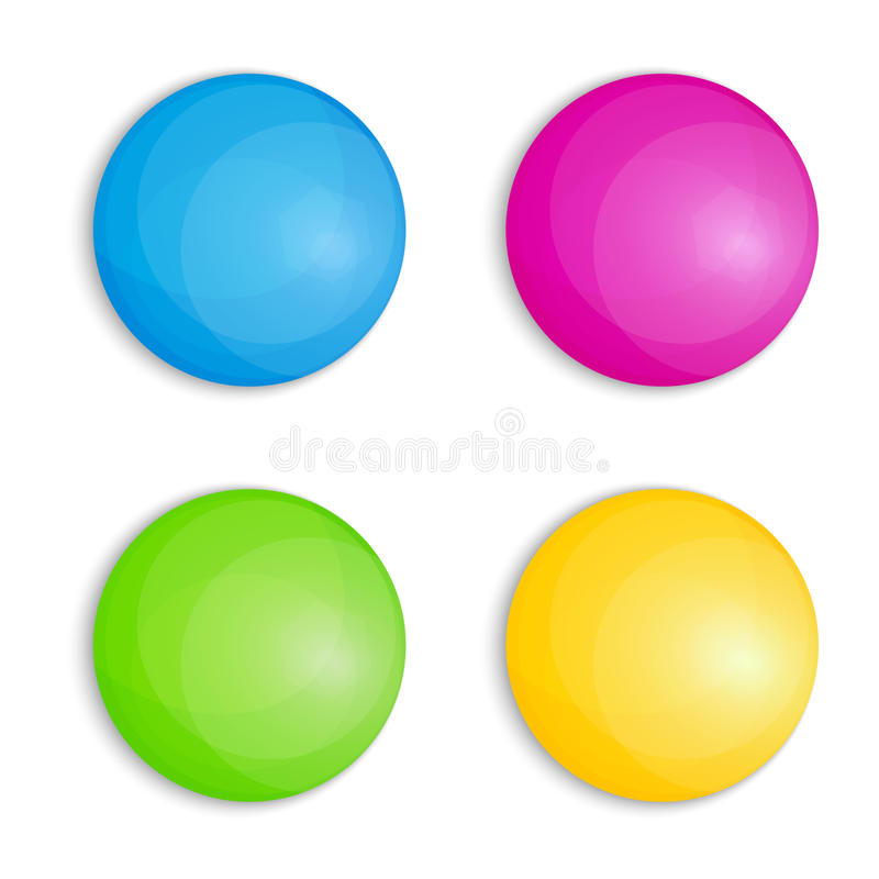 Кнопки сети в 4 цветах бесплатная иллюстрация