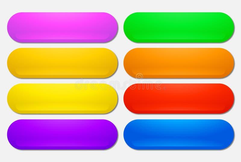 Кнопки сети сияющие значки иллюстрация штока