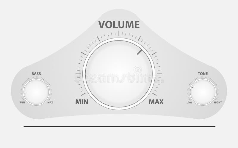 Кнопки смесителя тома циркуляра иллюстрация штока
